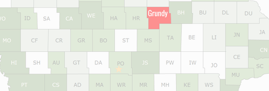Grundy County Map